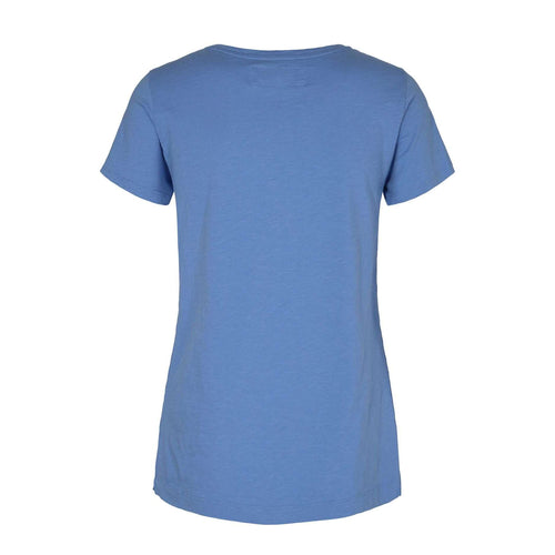 Products Mos Mosh Arden Allure Blue V neck Cotton T-Shirt back