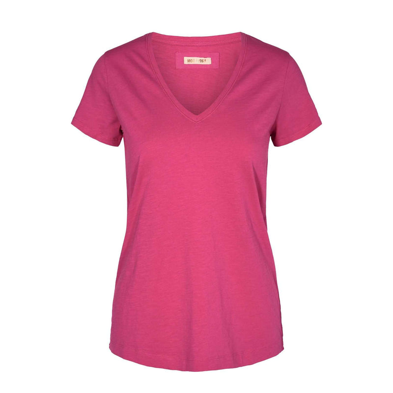 Products Mos Mosh Arden Raspberry Sorbet V neck T- Shirt  front