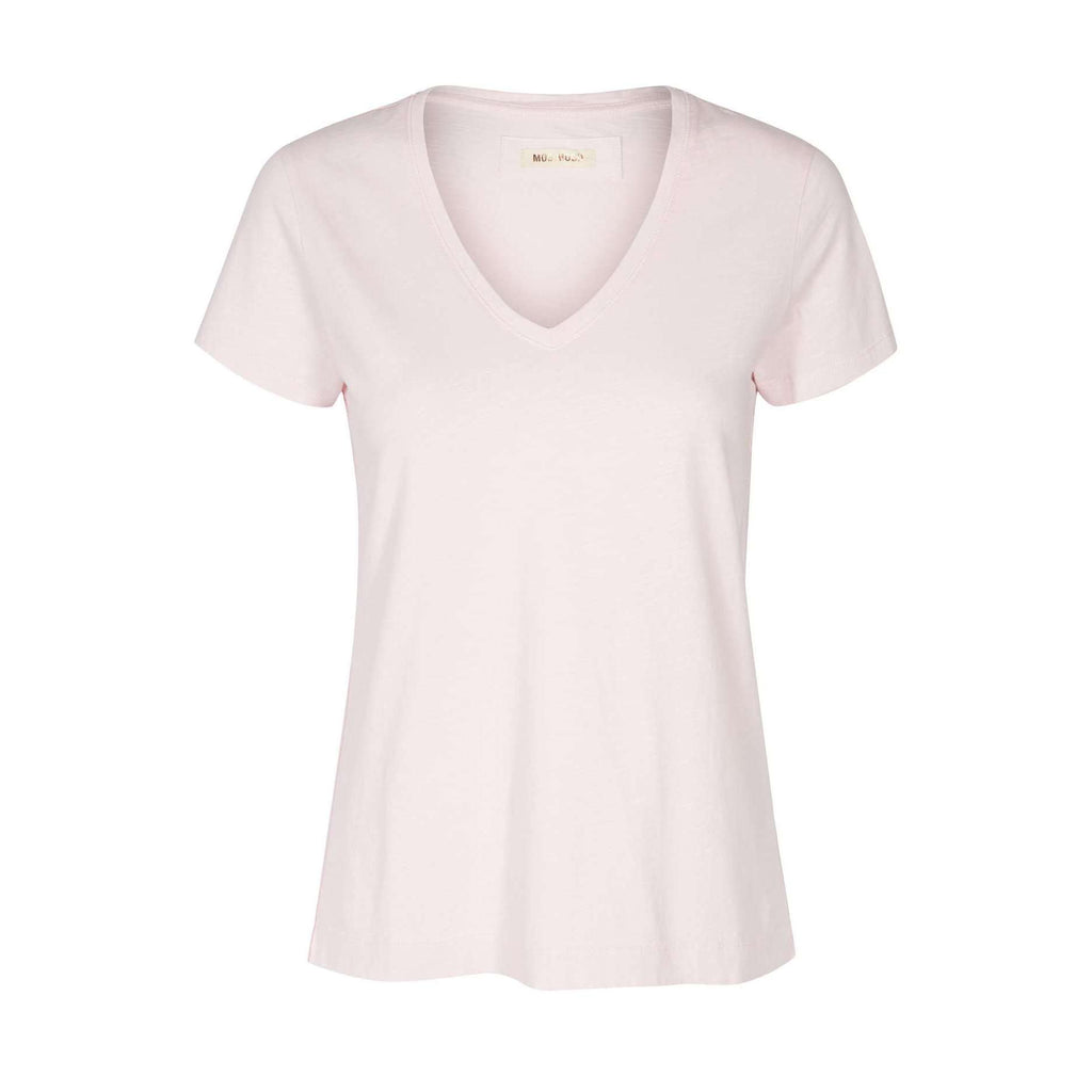 slim fit pale pink v neck t shirt by mos mosh