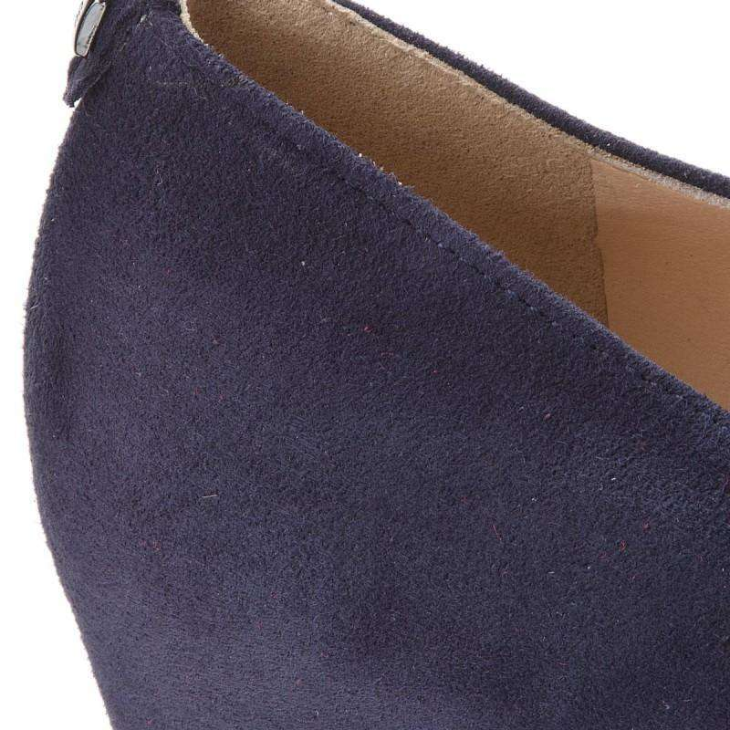 Hogl 3500 dark Blue Velour Wedge Shoe 4212