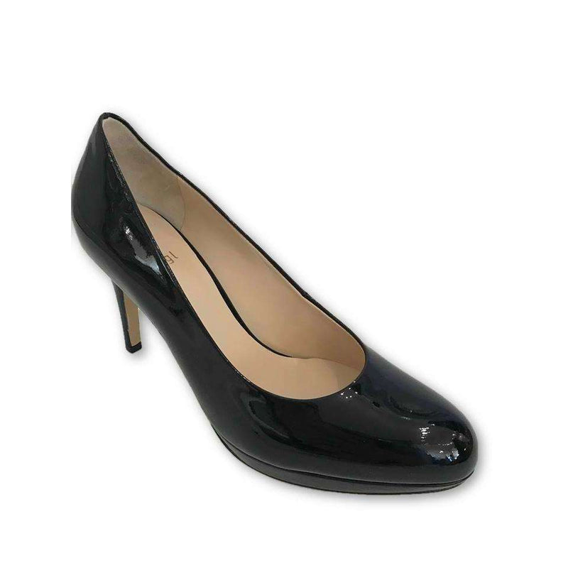 8004 Black Leather Patent Shoes