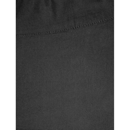 7/8 Taper Trapeze Trouser - Black