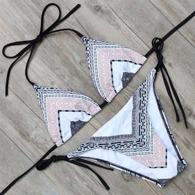 Patterned Triangle Bikini