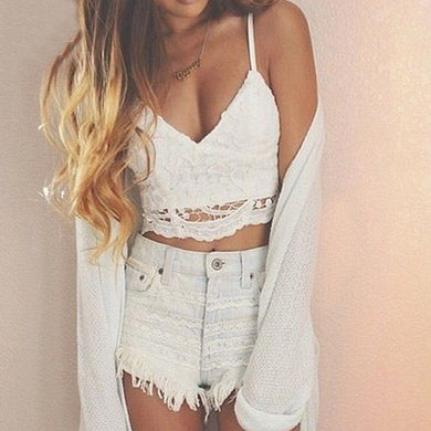 Flower Lace Crop-top Camisole