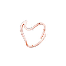 Stainless Steel Wave Rings (3 Styles)