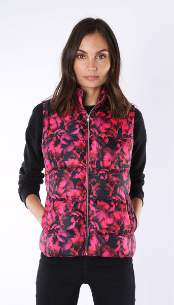"Down Vest - Digitally Printed ""Floral"""