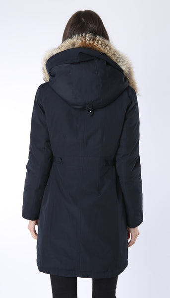 Down Filled Arctic Parka with real detachable fur