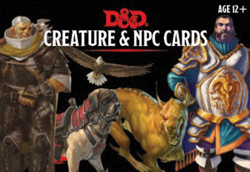Dungeons & Dragons RPG: Creatures & NPC Cards (182 cards)