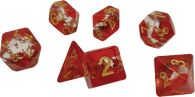 Sirius Dice RPG Dice Set (7): Maple Leaf