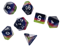 Sirius Dice RPG Set (7): Pink Green Blue