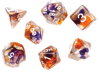 Sirius Dice RPG Set (7): Purple Orange Clear