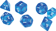 Sirius Dice RPG Set (7): Translucent Blue Resin