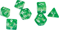 Sirius Dice RPG Set (7): Translucent Green Resin