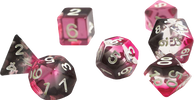 Sirius Dice RPG Set (7): Pink Clear Black Resin