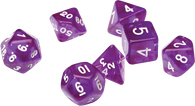 Sirius Dice RPG Set (7): Translucent Purple Resin