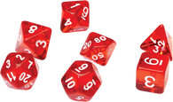 Sirius Dice RPG Set (7): Translucent Red Resin