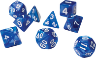 Sirius Dice RPG Set (7): Pearl Blue Acrylic