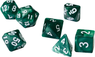 Sirius Dice RPG Set (7): Pearl Green Acrylic