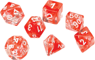 Sirius Dice RPG Set (7): Red Cloud Transparent Resin