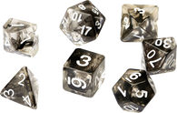 Sirius Dice RPG Set (7): Black Cloud Transparent Resin