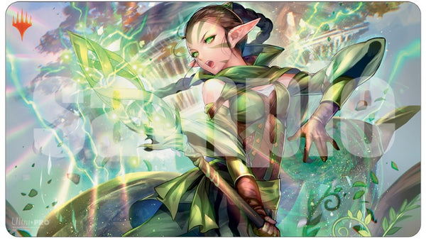 Magic the Gathering: War of the Spark Japanese Atl. Art Playmat - Nissa