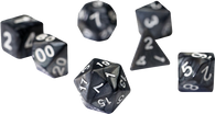 Sirius Dice RPG Set (7): Pearl Charcoal Grey Acrylic