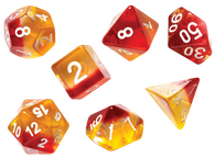 Sirius Dice RPG Set (7): Yellow Red Translucent