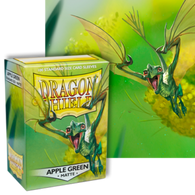 Dragon Shields: (100) Matte Apple Green