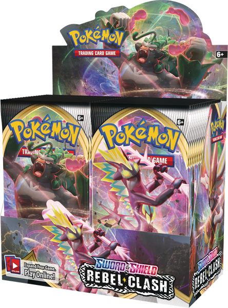 Pokemon TCG: Sword & Shield Rebel Clash Booster Display