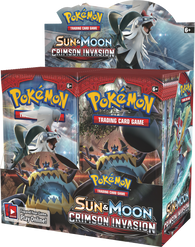 Pokemon TCG: Sun & Moon Crimson Invasion Booster Display