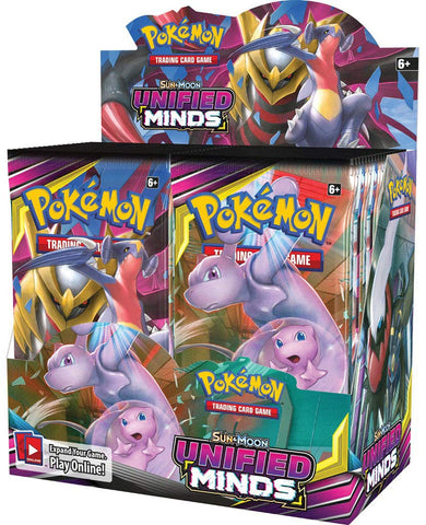 Pokemon TCG: Sun & Moon Unified Minds Booster Display