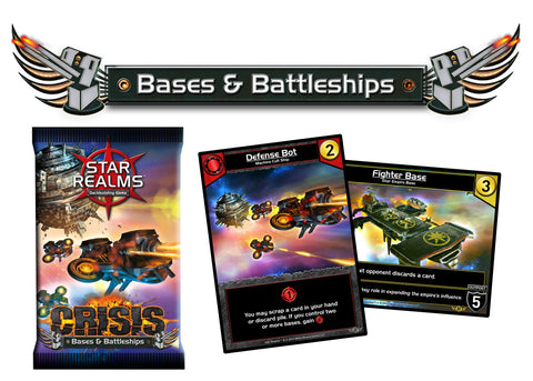 Star Realms Deck Building Game: Crisis: Bases and Battleships
