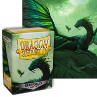 Dragon Shields: (100) Matte Emerald