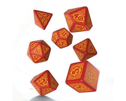 Dragon Slayer Dice Set Red/Orange