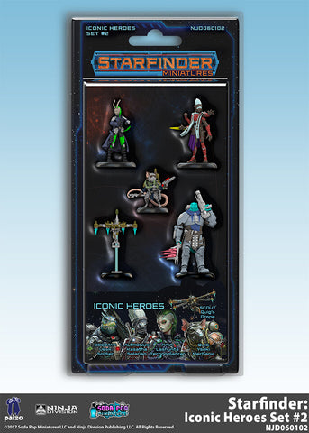 Starfinder Miniatures: Iconic Heroes Set 2