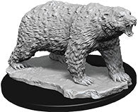 WizKids Deep Cuts Unpainted Miniatures: W9 Polar Bear