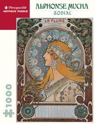 Pomegranate Artpiece Puzzle: 1000 Pieces - Alphonse Mucha: Zodiac