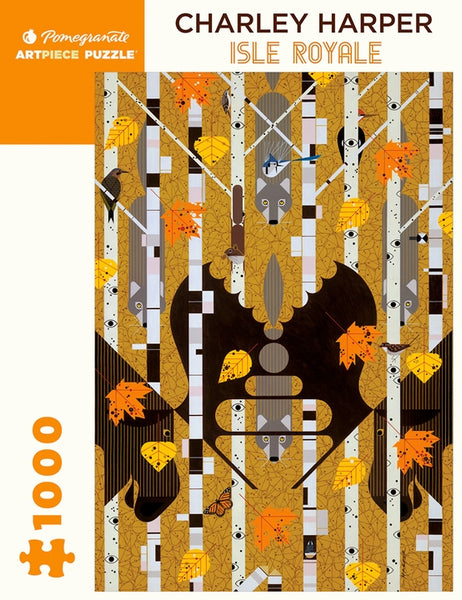 Pomegranate Artpiece Puzzle: 1000 Pieces - Charley Harper - Isle Royale