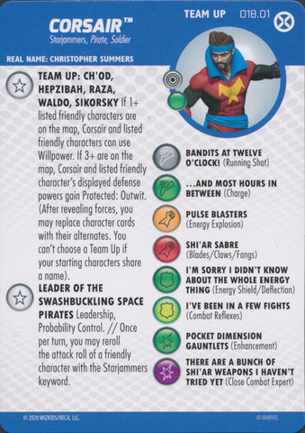 HeroClix X-Men House of X Team Up Corsair 018.01