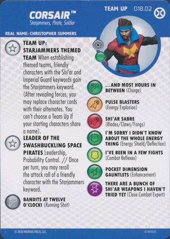 HeroClix X-Men House of X Team Up Corsair 018.02