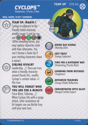 HeroClix X-Men House of X Team Up Cyclops 019.04