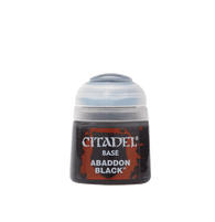 CITADEL BASE PAINT: ABADDON BLACK (12ML)