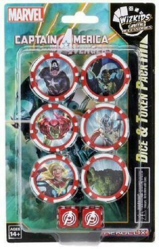 Marvel HeroClix: Captain America and the Avengers Dice and Token Pack