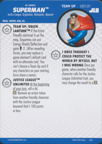 Heroclix Justice League Unlimited #001.01 Superman Team Up