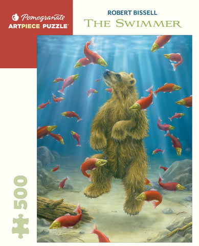 Pomegranate Artpiece Puzzle: 500 Pieces - Robert Bissell - The Swimmer