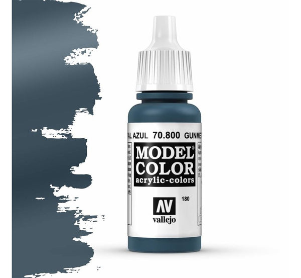 Vallejo Model Color: Metal Blue (17ml)