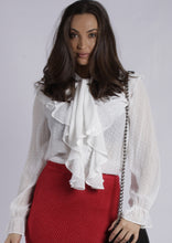YW17077SS Ruffle Front Long Sleeve Top (Pack)