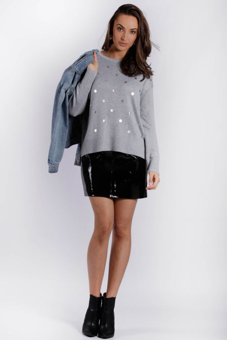 RV0376-1SS Silver Foil Spot Jumper (Pack) New Arrival