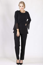 WW0065NC Black Top With Sheer Contrast (Pack)
