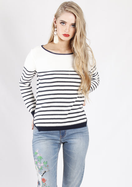 HW31128-1SS Basic Long Sleeve Striped Knit (Pack) New Arrival